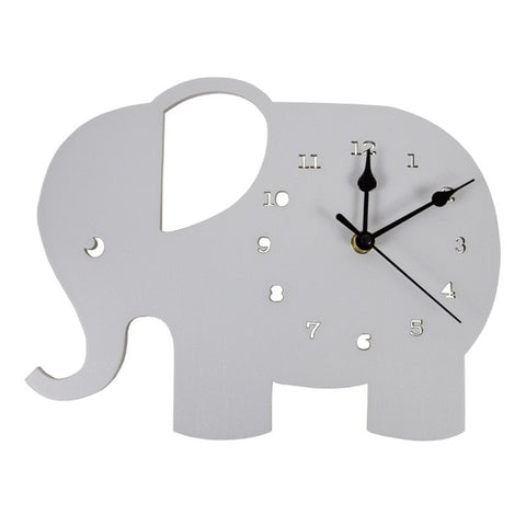 Elephant  Wall Clock - Cozy Nursery