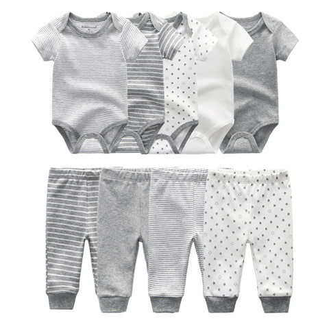 2-Piece Essential Baby Bodysuits Set of 4 pcs - Cozy Nursery