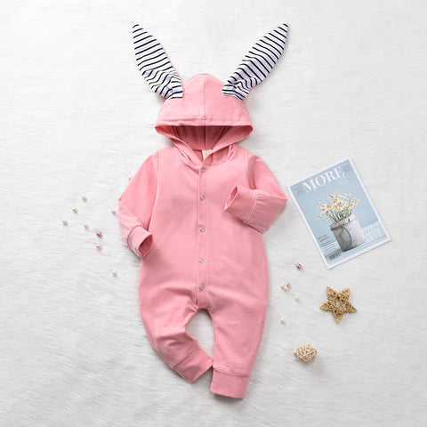 Bunny Long Sleeve Romper - Cozy Nursery