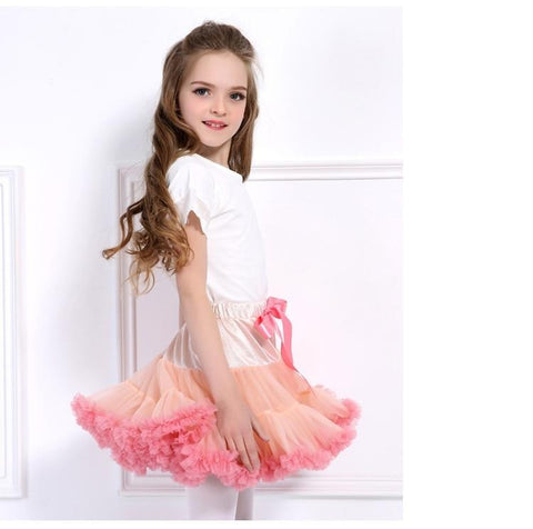 Double Layer Tutu Fluffy Skirt
