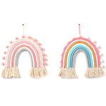 Rainbow Pom Pom Wall Decor - Cozy Nursery