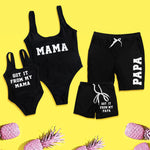 Matching Mom Dad Baby Swimsuit - Cozy Nursery