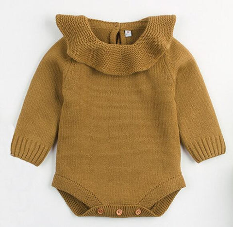 Baby Girl Knitted Warm Romper