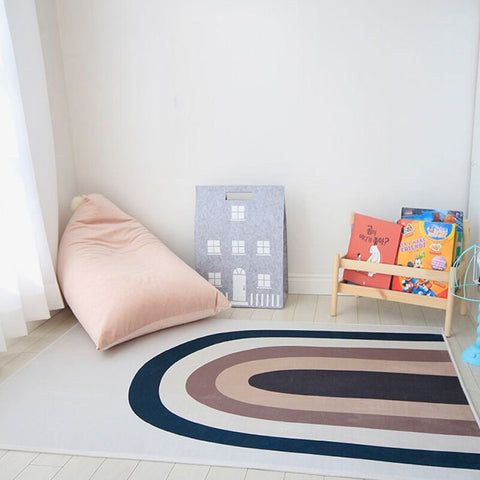 Rainbow Kids Rug - Cozy Nursery