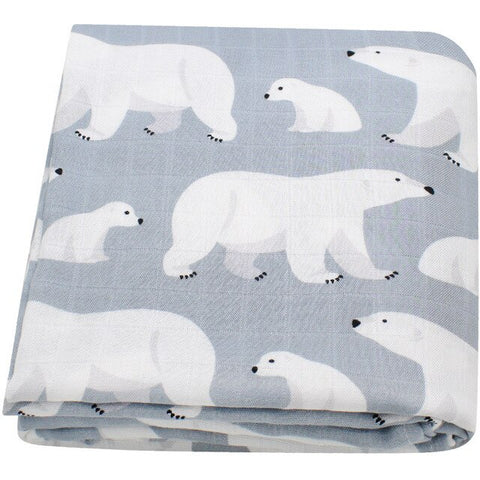 Bears Bamboo Baby Swaddle Blanket - Cozy Nursery