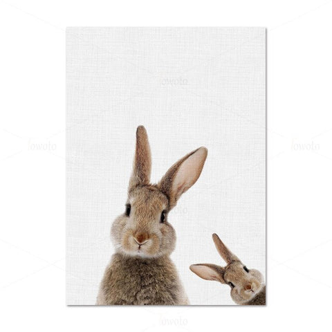 Little Rabbits Posters - Cozy Nursery