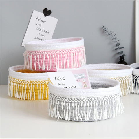 Cotton Rope Storage Baskets - Cozy Nursery