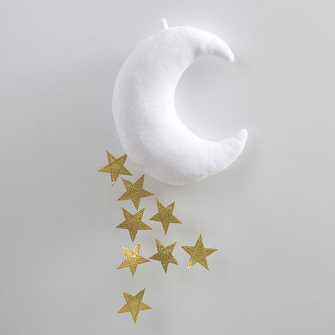 Moon Cloud with Stars Crib Mobile