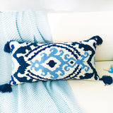 Embroidered Boho Pillow Cover 30x60cm - Cozy Nursery