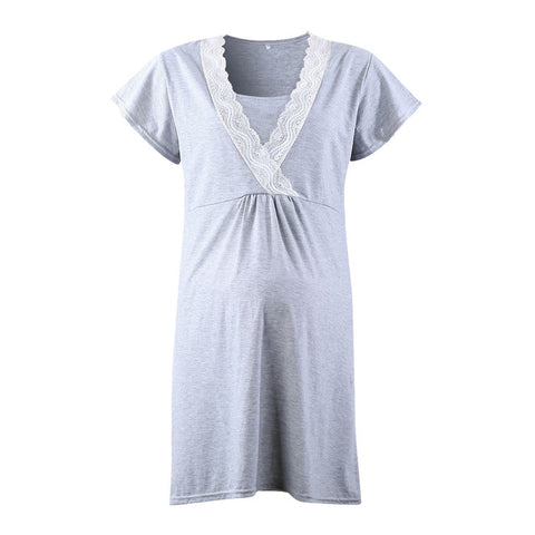 Lace Tunic Maternity Nightgown - Cozy Nursery