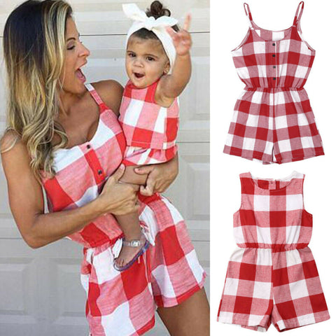 Matching Checkered Romper - Cozy Nursery