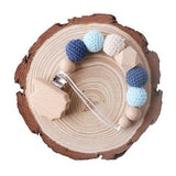 Knitted Wooden Crochet Baby Pacifier - Cozy Nursery