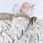 Baby Sheep Knitted Blanket
