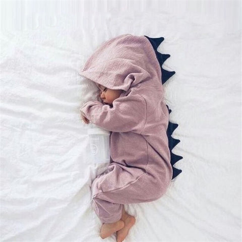 Hooded Dinosaur Romper - Cozy Nursery