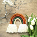Hand-Woven Rainbow Wall Decor - Cozy Nursery