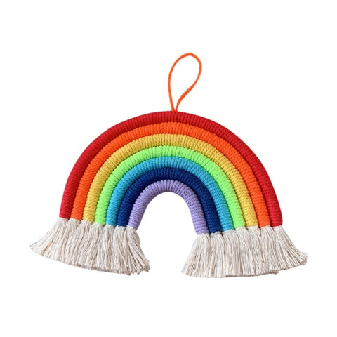Classic Hand-Woven Rainbow Wall Decor