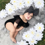 Big Bow Headband and Lace Romper - Cozy Nursery