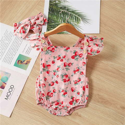 Strawberry Romper with Headband