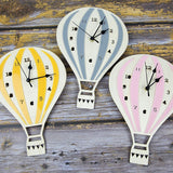 Hot Air Balloon Wooden Wall Clock
