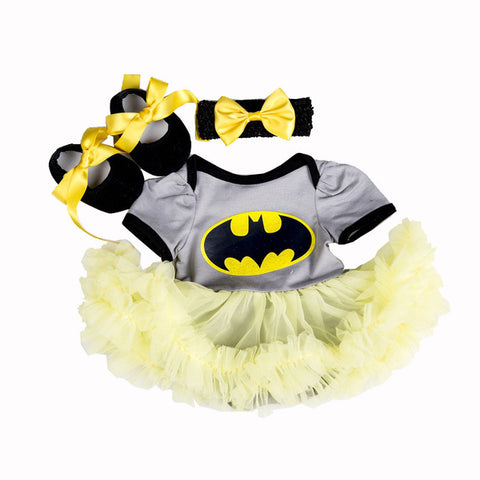Batman Superman Tutu Skirt Romper - Cozy Nursery