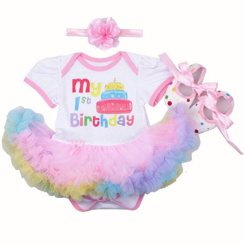First Birthday Tutu Skirt Romper - Cozy Nursery