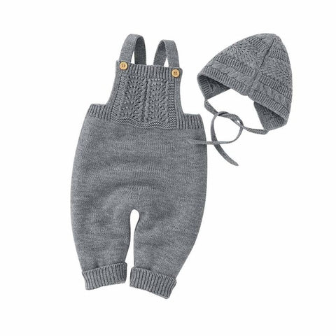 Baby Sleeveless Jumpsuit with Hat