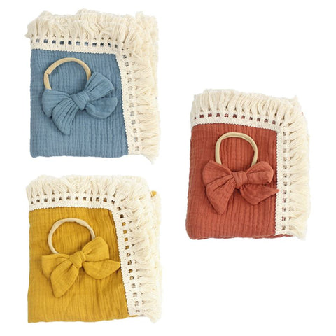 Baby Tassel Swaddle Wrap Bow
