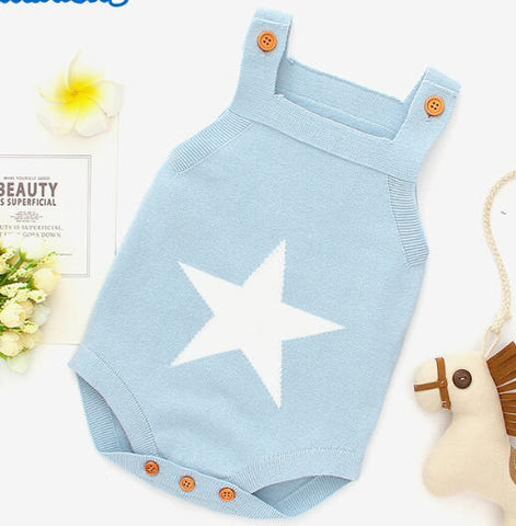 Star Knitted Romper - Cozy Nursery