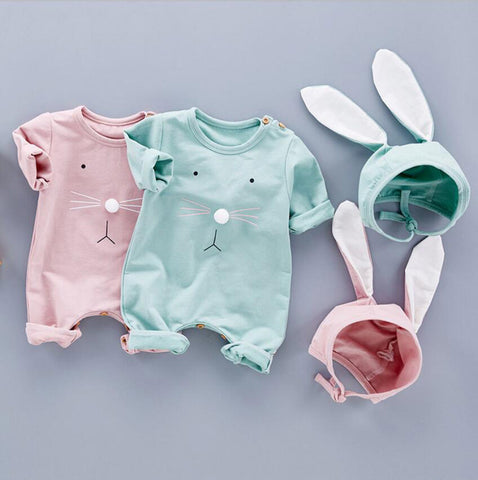 Rabbit Face Romper