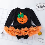Set of Pumpkin Halloween Long Sleeve Dress