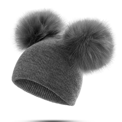 Winter Baby Pompom Hat