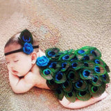 Peacock Costume For Newborn Photography