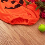 Pumpkin Hooded Zipper Jumpsuit