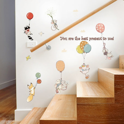 Floating Balloon Wall Stickers