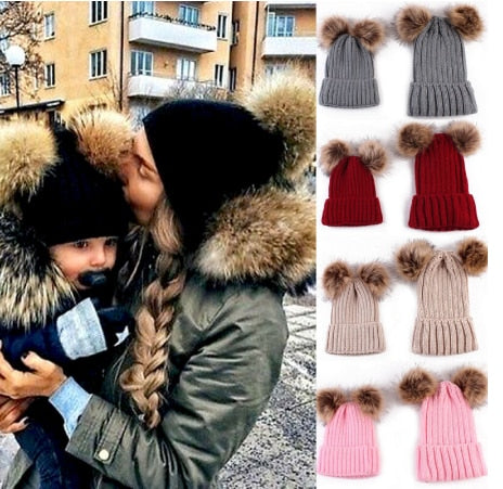 Matching Family Pompom Hat