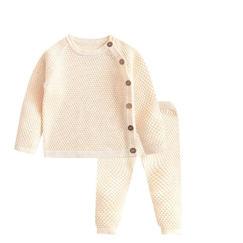 Baby Knit Top + Pants Outfit