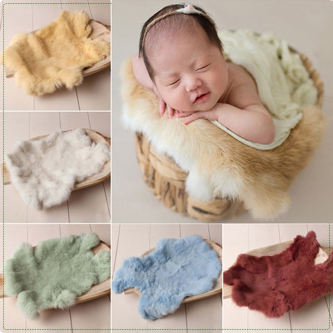 Newborn Faux Fur Rabbit Blanket