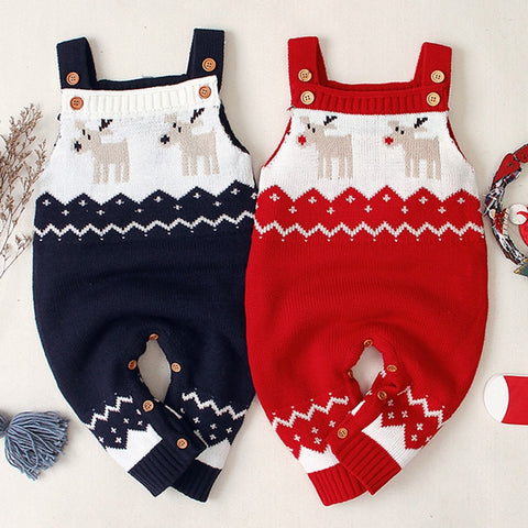 Knitted Reindeer Jumpsuit