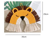 Animal Face Rainbow Macramé