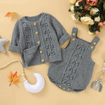 Knitted Sweater Romper Set