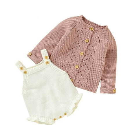 Knitted Baby Romper Set
