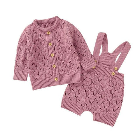 Knitted Sweater Jumpsuit Set