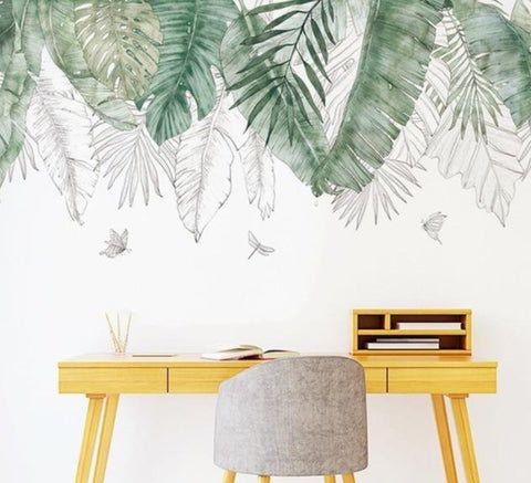Giant Tropical Leaves Wall Stickers