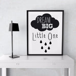 New Dream Big Little One Canvas Poster
