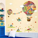 colorful Hot Air Balloon wall sticker