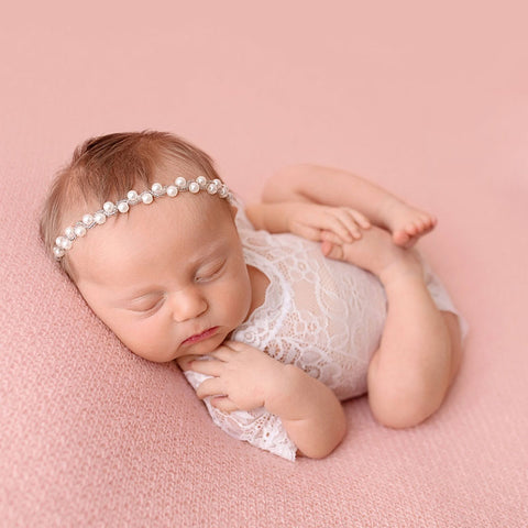 Sparkling Pearls Baby Head Band - Cozy Nursery