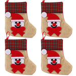 4pcs Christmas Stocking Socks