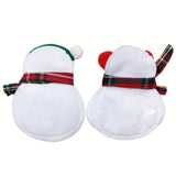 2pcs Snowman Christmas Fork Set Holder - Cozy Nursery