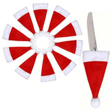 Christmas Santa Hat Cutlery Holders / Table Place Decoration Package of 8