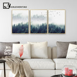 Nordic Decoration Forest Lanscape Wall Art Canvas Poster and Print Canvas Painting Decorative Picture for Living Room Home Decor - Cozy Nursery